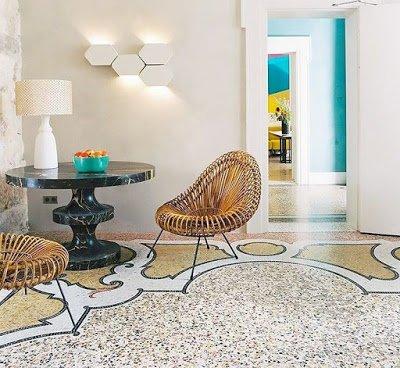 Terrazzó padló